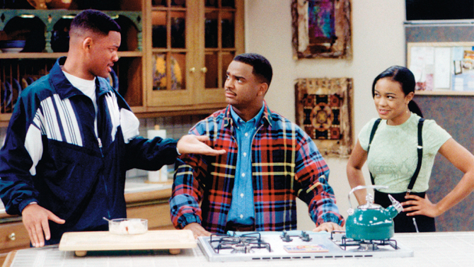 The Fresh Prince of Bel-Air (NBC) 1990-1996 Shown from left: Will Smith, Alfonso Ribeiro, Tatyana Ali